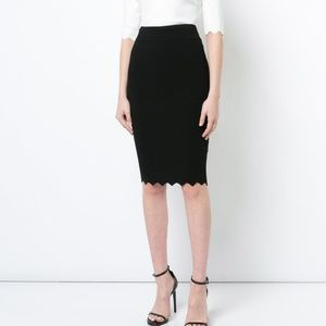 NWT Milly Pointed Scallop Hem Skirt
